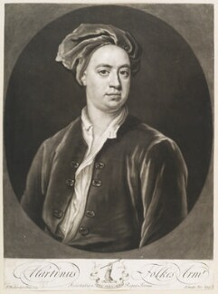 Martin Folkes, by John Smith, after  Jonathan Richardson - NPG D11696