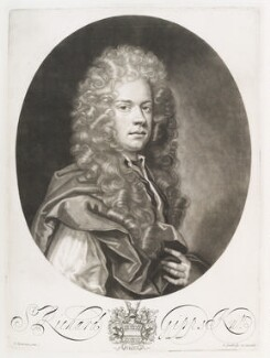 Sir Richard Gipps, by and published by John Smith, after  John Closterman, 1687 - NPG D11699 - © National Portrait Gallery, London