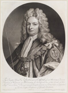 Robert Harley, 1st Earl of Oxford, by and published by John Smith, after  Sir Godfrey Kneller, Bt, 1714 (1714) - NPG D11700 - © National Portrait Gallery, London