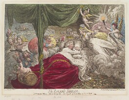 'The lover's dream', by James Gillray, published by  Hannah Humphrey, published 24 January 1795 - NPG D12515 - © National Portrait Gallery, London