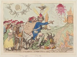 'The prophet of Hebrews, - the prince of peace - conducting the Jews to the promis'd-land', by James Gillray, published by  Hannah Humphrey - NPG D12520