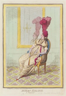 Lady Charlotte Susan Maria Bury (née Campbell) ('Modern elegance'), by James Gillray, published by  Hannah Humphrey - NPG D12524