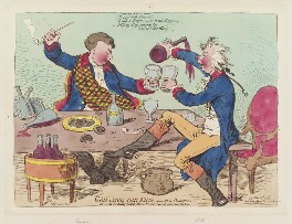 'God save the King, - in a bumper. or - an evening scene, three times a week at Wimbleton', by James Gillray, published by  Hannah Humphrey, published 27 May 1795 - NPG  - © National Portrait Gallery, London