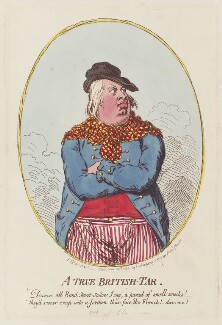 King William IV ('A true British tar'), by James Gillray, published by  Hannah Humphrey, published 28 May 1795 - NPG  - © National Portrait Gallery, London