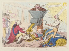 'John Bull ground down', by James Gillray, published by  Hannah Humphrey, published 1 June 1795 - NPG  - © National Portrait Gallery, London