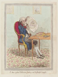 William Wyndham Grenville, 1st Baron Grenville, by James Gillray, published by  Hannah Humphrey, published 8 June 1795 - NPG  - © National Portrait Gallery, London