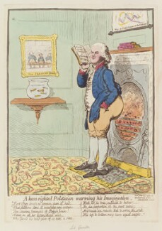 William Wyndham Grenville, 1st Baron Grenville ('A keen-sighted politician warming his imagination'), by James Gillray, published by  Hannah Humphrey, published 13 June 1795 - NPG D12533 - © National Portrait Gallery, London