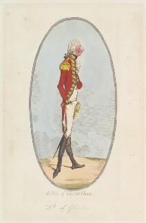 William Frederick, 2nd Duke of Gloucester ('A slice of Glo'ster cheese'), by James Gillray, published by  Hannah Humphrey, published 29 June 1795 - NPG  - © National Portrait Gallery, London