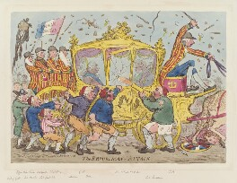 'The Republican attack', by James Gillray, published by  Hannah Humphrey, published 1 November 1795 - NPG  - © National Portrait Gallery, London