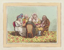 'A decent story', by James Gillray, published by  Hannah Humphrey, published 9 November 1795 - NPG  - © National Portrait Gallery, London