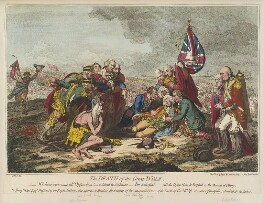 'The death of the Great Wolf', by James Gillray, published by  Hannah Humphrey - NPG D12551