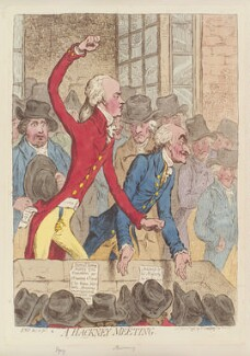 'A Hackney meeting', by James Gillray, published by  Hannah Humphrey - NPG D12556