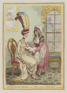 'The fashionable mamma, - or - the convenience of modern dress', by James Gillray, published by  Hannah Humphrey, published 15 February 1796 - NPG  - © National Portrait Gallery, London