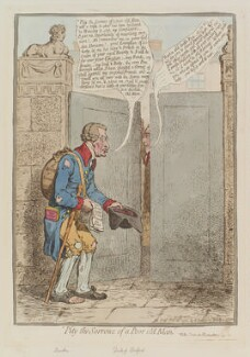 'Pity the sorrows of a poor old man', by James Gillray, published by  Hannah Humphrey, published 25 February 1796 - NPG  - © National Portrait Gallery, London