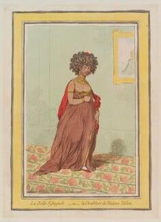 Maria Garcia ('La belle Espagnole, - ou - la doublure de Madame Tallien'), by James Gillray, published by  Hannah Humphrey, published 25 February 1796 - NPG  - © National Portrait Gallery, London