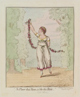 Rose Didelot ('No flower that blows, is like this Rose'), by James Gillray, published by  Hannah Humphrey, published 12 April 1796 - NPG  - © National Portrait Gallery, London