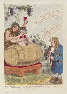 'The wine duty; - or - the triumph of Bacchus & Silenus; with John Bulls remonstrance', by James Gillray, published by  Hannah Humphrey, published 20 April 1796 - NPG  - © National Portrait Gallery, London