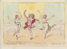 'Modern grace, - or - the operatical finale to the ballet of Alonzo e Caro', by James Gillray, published by  Hannah Humphrey - NPG D12571