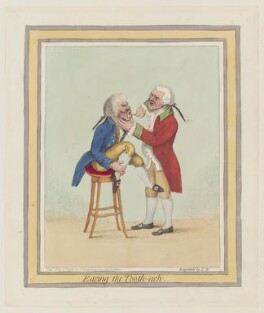 'Easing the tooth-ach', by James Gillray, published by  Hannah Humphrey, published 7 May 1796 - NPG  - © National Portrait Gallery, London