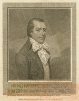 Richard Brothers, by William Sharp, after  Unknown artist - NPG D13195