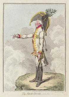 Charles, Archduke of Austria ('The Arch-Duke'), by James Gillray, published by  Hannah Humphrey, published 15 November 1796 - NPG  - © National Portrait Gallery, London