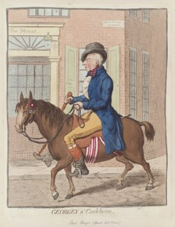 George Hanger, 4th Baron Coleraine ('Georgey a' cock-horse'), by James Gillray, published by  Hannah Humphrey, published 23 November 1796 - NPG  - © National Portrait Gallery, London