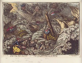 'End of the Irish invasion; - or - the destruction of the French armada', by James Gillray, published by  Hannah Humphrey, published 20 January 1797 - NPG D12592 - © National Portrait Gallery, London