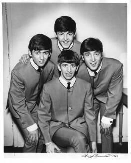 The Beatles (George Harrison; Paul McCartney; Ringo Starr; John Lennon), by Harry Hammond, 1963 - NPG x15550 - © Harry Hammond / Victoria & Albert Museum