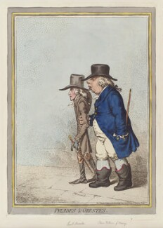 'Pylades and Orestes' (Nassalin; William V, Prince of Orange), by James Gillray, published by  Hannah Humphrey - NPG D12606