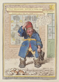 'Le bonnet-rouge; - or - John Bull evading the hat tax', by James Gillray, published by  Hannah Humphrey, published 5 April 1797 - NPG  - © National Portrait Gallery, London