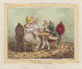 'Push-pin' (Mrs ('Mother') Windsor?; William Douglas, 4th Duke of Queensberry), by James Gillray, published by  Hannah Humphrey - NPG D12609