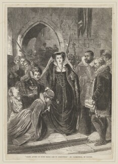 Mary, Queen of Scots being led to execution, by William Luson Thomas, published by  Illustrated London News, after  Scipione Vannutelli - NPG D13135