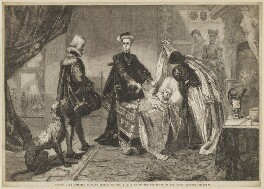 'Queen Mary quitting Stirling Castle', by William Luson Thomas, after  Henrietta Mary Ada Ward - NPG D13136