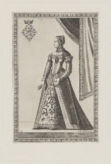 Mary, Queen of Scots, after an engraving by Franz Huys - NPG D13137