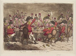 'Loyal souls; - or - a peep into the mess room, at St James's', by James Gillray, published by  Hannah Humphrey, published 14 November 1797 - NPG D12623 - © National Portrait Gallery, London