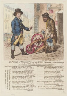 George Tierney ('The friend of humanity and the knife-grinder'), by James Gillray, published by  Hannah Humphrey - NPG D12626