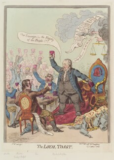 'The loyal toast', by James Gillray, published by  Hannah Humphrey - NPG D12631