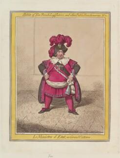 Charles James Fox ('Le Ministre d'Etat, en grand costume'), by James Gillray, published by  Hannah Humphrey - NPG D12635