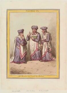 'Les membres du Conseil des Anciens', by James Gillray, published by  Hannah Humphrey - NPG D12636