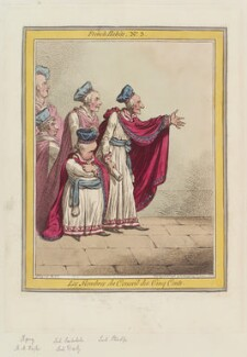 'Les membres du Conseil des Cinq Cents', by James Gillray, published by  Hannah Humphrey - NPG D12637