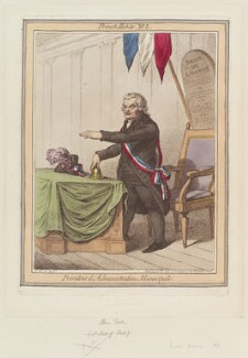 John Horne Tooke ('Président d'Administration Municipale'), by James Gillray, published by  Hannah Humphrey - NPG D12640