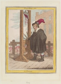 George Tierney ('Le boureau'), by James Gillray, published by  Hannah Humphrey - NPG D12641