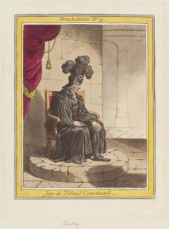 John Courtenay ('Juge du Tribunal Correctionnel'), by James Gillray, published by  Hannah Humphrey - NPG D12644