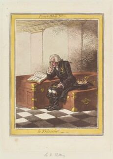 Sir William Pulteney ('Le Trèsorier'), by James Gillray, published by  Hannah Humphrey - NPG D12646