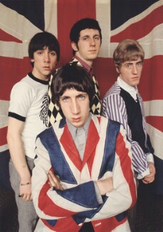 The Who (Keith Moon; Pete Townshend; John Entwistle; Roger Daltrey), by Colin Jones - NPG x125447