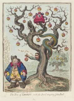Charles James Fox ('The tree of liberty, - with, the devil tempting John Bull'), by James Gillray, published by  Hannah Humphrey - NPG D12649