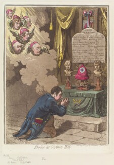 'Shrine at St Ann's Hill', by James Gillray, published by  Hannah Humphrey - NPG D12650