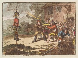 'United Irishmen in training', by James Gillray, published by  Hannah Humphrey - NPG D12652