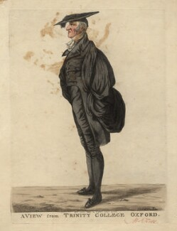 Henry Kett ('A view from Trinity College, Oxford'), by and published by Robert Dighton - NPG D13221