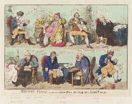 'Nelson's Victory; - or - good-news operating upon loyal-feelings', by James Gillray, published by  Hannah Humphrey, published 3 October 1798 - NPG D12659 - © National Portrait Gallery, London